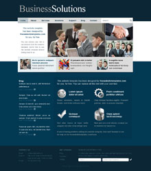 Free business solutions web templates