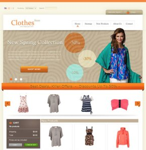cloth store cms themes free download