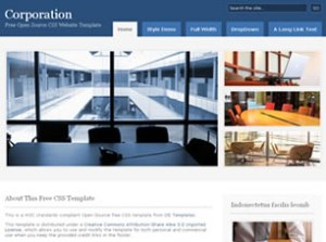 free Corporation web templates for online