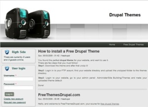 Free drupal hosting theme