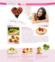 Free health web template