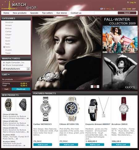 free online shoping cms web themes