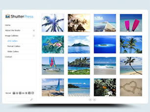 free web templates with image light box gallery