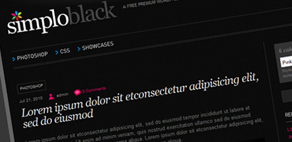 SimploBlack wordpress theme free download