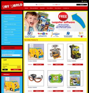 toy store cms themes