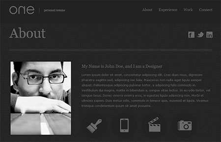 resume web templates download