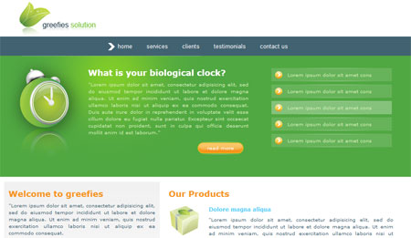 Xhtml css web templates download