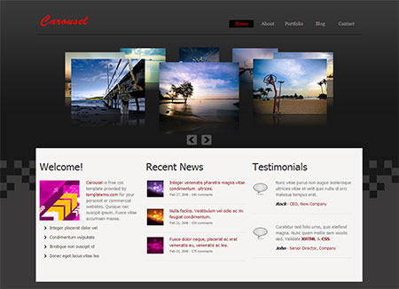 free jQuery slider templates download