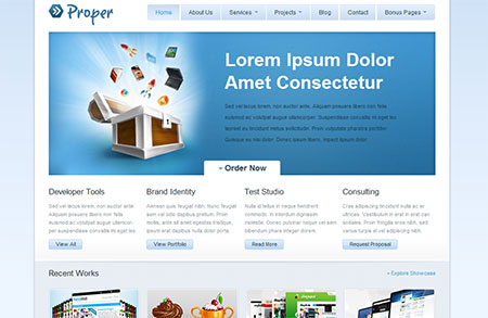jQuery web templates free download
