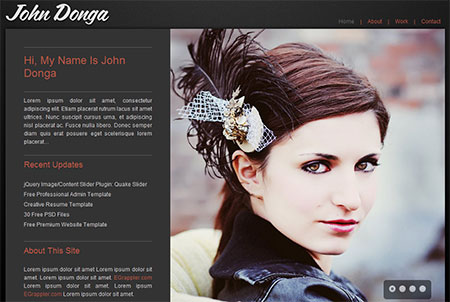 free personal website templates download