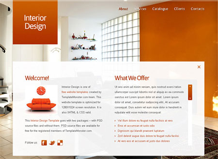 interior web templates free download