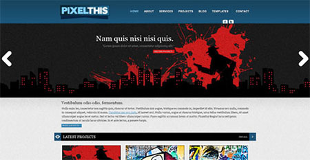 website templates with jQuery slider