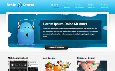 web templates with jquery web banner