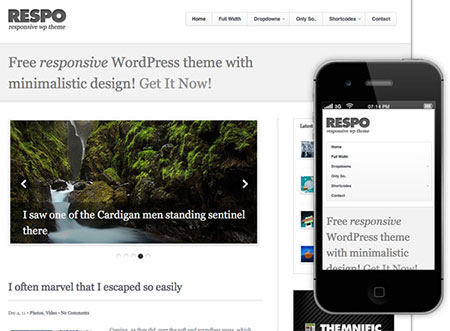 responsive blog wordpress themes download