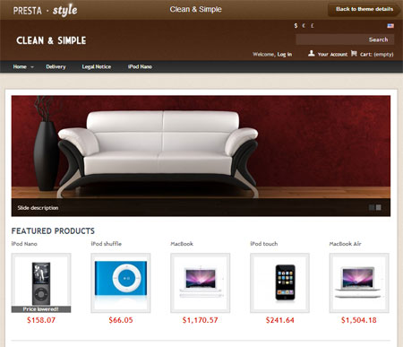 eCommerce prestashop themes free download