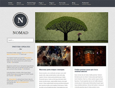 blog wordpress themes free download