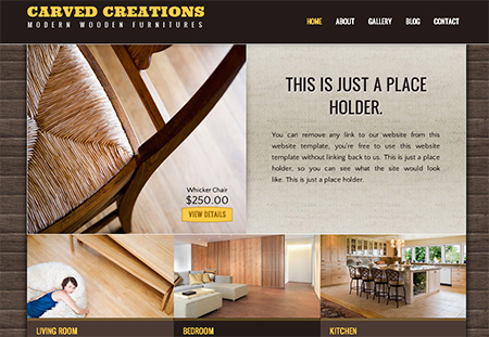 Free Furnitures website templates