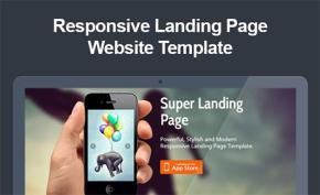 free responsive landing templates